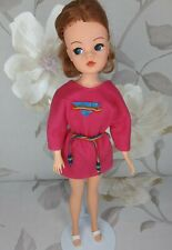 PEDIGREE 1985 SINDY DOLL 'FANTASIA PINK DRESS' OUTFIT (43061) & SANDALS (NO DOLL