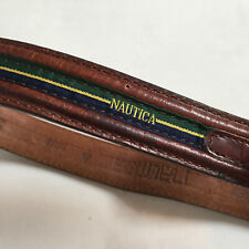 "Nautica Brown Leather Belt - Fits Size 38"" or 40"" Waist"