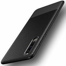 Huawei P30 Hülle AVANA Schutzhülle Silikon Case Schwarz Slim Cover Carbon Optik