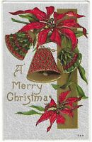 """Vintage Postcard """"A Merry Christmas"""" Embossed, Posted 1911"""