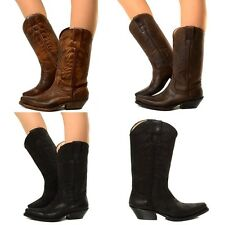 Damen Cowboystiefel Westernstiefel Echtleder Wild Boots Original Italy N1000