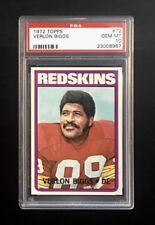 1972 TOPPS FOOTBALL #72 VERLON BIGGS WASHINGTON REDSKINS PSA 10 SET BREAK