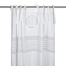 Tenda Molly BIANCO Landhaus sipario 115 x 240 SHABBY Brocante monogramma