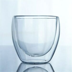Glass Double Wall Cup Drinkware Transparent Coffee Milk Cups Insulate Office Tea