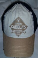 720 SAMPLE Cabela s It s In Your Nature Tattered Look Tan Navy Ad Back Hat 1924d5da3521