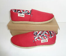 Tommy Hilfiger Mens Red Tj Printed Slip On New Shoes Trainers RRP £50 UK Size 8
