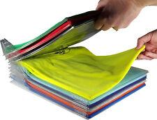10Pcs T-Shirt Clothes Organizer Folder Magic Fast Laundry Folding Board US