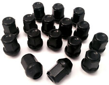 Set of 16 x M12 x 1.5, 19mm Hex, Taper alloy wheel nuts in Black for Volvo