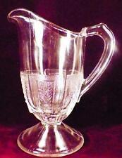 Paneled Wheat Creamer Early American Pattern Glass Hobbs Brockunier Antique 1871