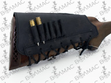 New  Leather Rifle Cartridge Holder Ammo Buttstock 6 Pockets.Made in Europe.