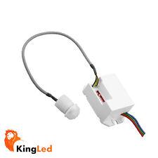 KingLed® Rilevatore Presenza PIR 120º Mini Sensore Movimento Incasso 220V 1536