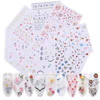 3D Nagel Aufkleber Blumen Nail Transfer Decals Stickers Flowers Series Nail Art