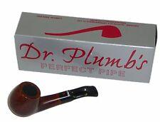 Dr Plumb Dinky Flat Bottom Briar Pipe - Walnut Colour - 4512Walnut