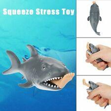Creative Funny Toy Squeeze Stress Ball Alternative Humorous Shark Eat Human  3E9