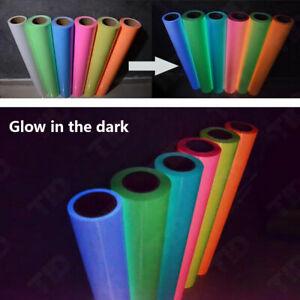 7 Packs Glow in the Dark PU HTV Iron on T-shirts Heat Transfer Vinyl Heat Press