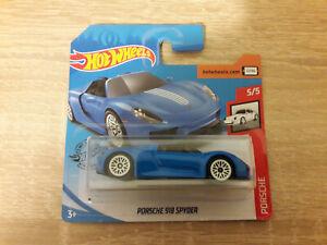 2020 Hot Wheels Hotwheels Porsche 918 Spyder - 1:64 1/64 Porsche 5/5 Blue