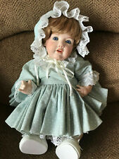 "18"" Adorable Antique German Kestner Hilda Bent Knee Baby Reproduction Doll NR"