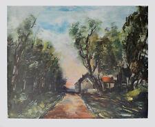 Maurice de Vlaminck Kunstdruck Poster Bild seltener Lichtdruck Die Strasse 70x85