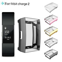 Ultrathin Soft TPU Full Screen protector Clear Case Cover For Fitbit Charge 2 UK