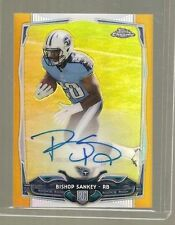 2014 TOPPS CHROME MINI RC GOLD REFRACTOR ON CARD AUTO BISHOP SANKEY /10 TITANS