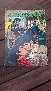 """VTG 1968 MEXICAN COMIC ALMA GRANDE No. 393 """"VISITA A LOS CALABOZOS"""" HERRERIAS"""