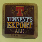 VINTAGE BRITISH BEER LABEL - TENNENT BREWERY, EXPORT ALE 275ML #2