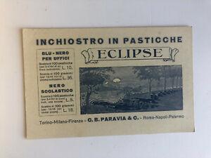 Cartolina Pubblicitaria Inchiostro in Pasticche Condensato Eclipse Paravia c13