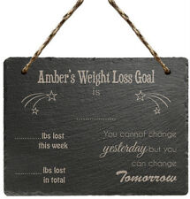 PERSONALISED Slate WEIGHT Loss Sign PLAQUE Counter Gift Idea for Slimming World