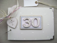 PERSONALISED 30th  birthday ...A5  SIZE PINK PHOTO ALBUM/SCRAPBOOK/MEMORY BOOK.