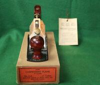 GREAT FINDAntique Vintage SHELTON No.504 1932-54 Jack Plane w/BOX & TAG Inv#HB96