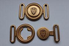 Gürtelschnalle, Gürtelschließe, Metall, Wappen, gold, ca. 30 mm