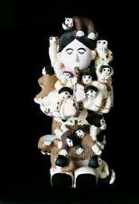 Vintage Native American Jemez Pueblo Indian Mini Fluteplayer Storyteller Pottery