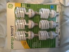 GE energy smart 100 Watt Spiral light bulb Package of 6 Uses 26 watts New #47707