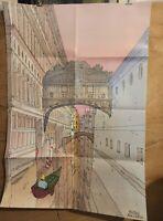 Affiche Moebius Jean Giraud Venise Céleste 98,5x68 cm  pliée en 8
