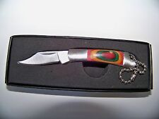 "2.1/8"" W /Drop Point Blade Key Chain Pocket knife Gift"