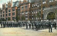 Spokane Washington~Gonzaga College Drill~Military Soldiers Parade Rest~1909