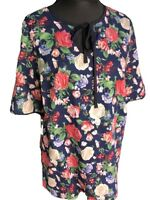 New Plus Size Rose Floral Print Tunic Top Reduced UK sizes 18/20-22/24-26/28 new