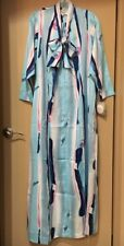 NWT Vintage Christian Dior Lounge Wear Maxi Zip Front Gown Dress