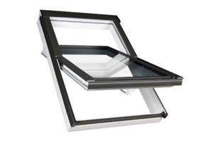 FAKRO Dachfenster Kunststoff PTP-V U3 mit Dauerlüftung und Eindeckrahmen