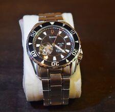 Bulova Men's 98A105 Marine Star Automatic Black Dial Watch