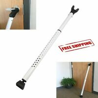 "Adjustable Door Security Bar Door Home Brace Safety Lock Alarm 29""-45"" White NEW"