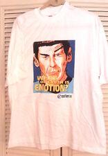 STAR TREK Spock Emotion 1996 T-SHIRT - Vintage- Size X LARGE- FREE S&H