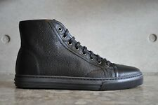 Gucci California Green High Top Leather Lace Up Sneaker Black 6