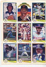 1982 Donruss Baseball Cards  Selling sheet sales sheet vendor info rare    MBX80