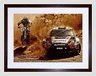 Sport Motocross Bike Rally Car Dirt Race Framed Wall Art Print