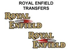 Royal Enfield Bullet Tank Transfers Decals Stickers Pair D51063 Black Gold