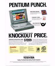 1996 TOSHIBA Satellite 100CS Portable Computer Vtg Print Ad