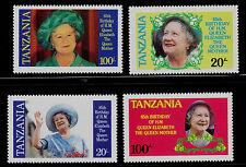 TANZANIA SCOTT# 267-270  MNH  QUEEN MOTHER, 85th BIRTHDAY