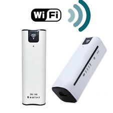 WIRELESS MODEM WIFI ROUTER 3G 4G PORTATILE CON BATTERIA SUPPORTA SIM WCDMA UMTS