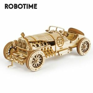 Robotime Classic DIY Movable 3D Prix Car Wooden Puzzle Game Assembly Toy Child